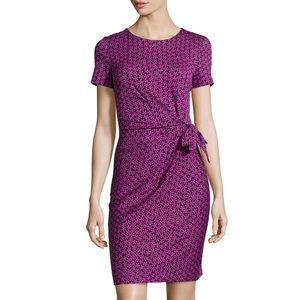DVF Zoe Ruched Mini Dress Floral Print Sz 10